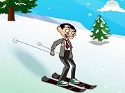 Mr.Bean Skiing Fun